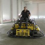Шлифовка бетоноотделочными машинами