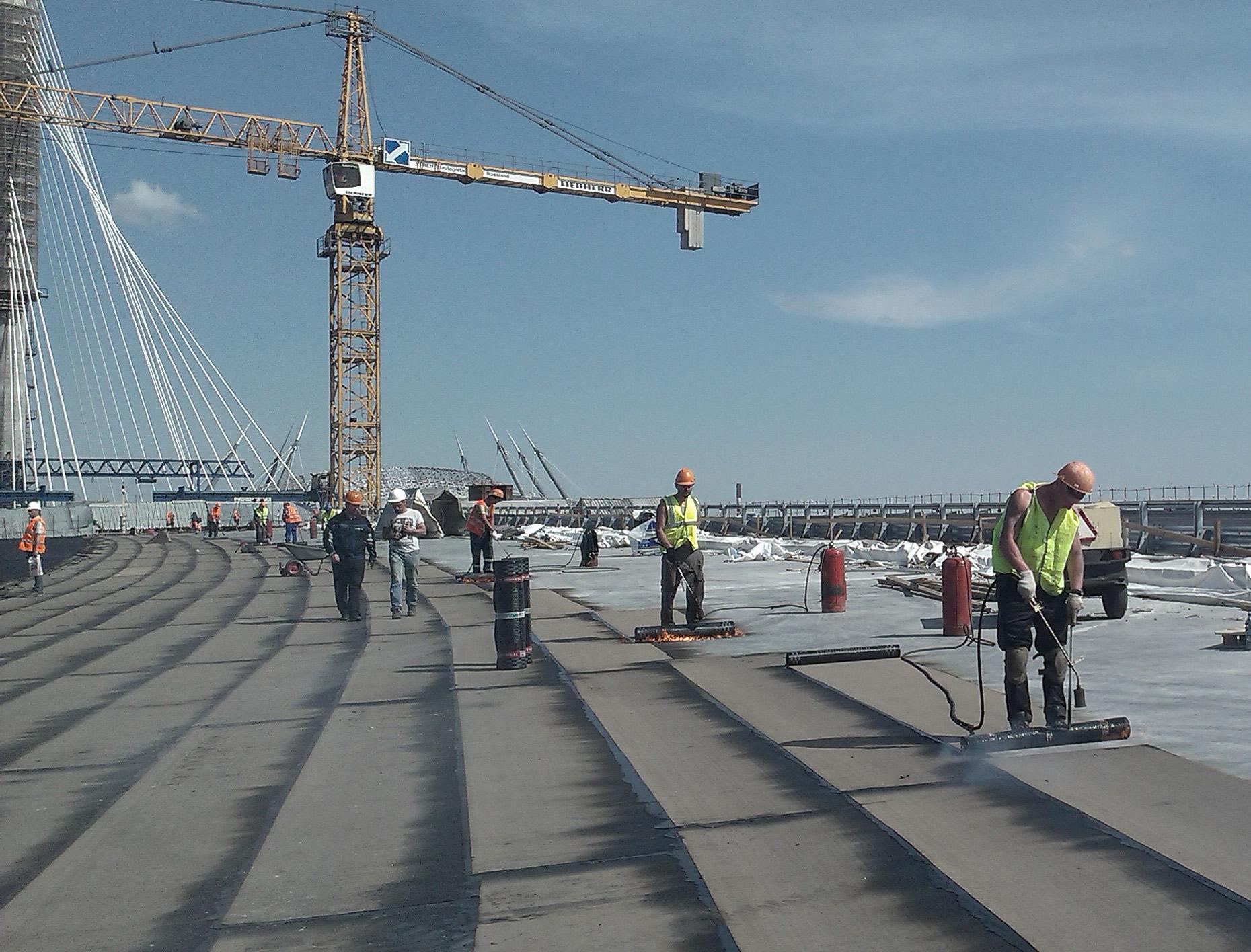 Гидроизоляция моста Западного скоростного диаметра КАД.